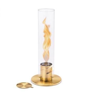 SPIN 90 | Bioethanol Windlicht | Tischfeuer | Gartenfackel-gold