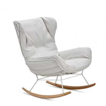 Leyasol Rocking Wingback Chair