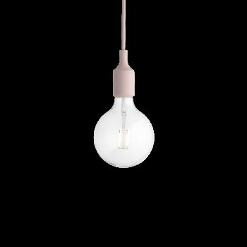 Muuto E27 Pendant Lamp rose inkl. 2 Watt LED Pendelleuchte