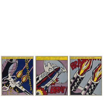 As I opened Fire - limitierte Edition von Roy Lichtenstein, Offset Lithographie, Pop-Art, Grafik