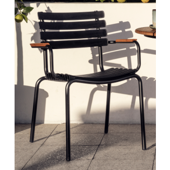 ReCLIPS Dining Chair (mit Bambus-Armlehne)