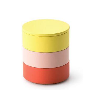 Aufbewahrungs-Set / zitrone, rosé, koralle