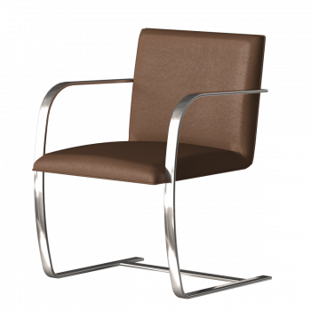 Knoll International Brno Stuhl, Farbe: Leder Velluto amber