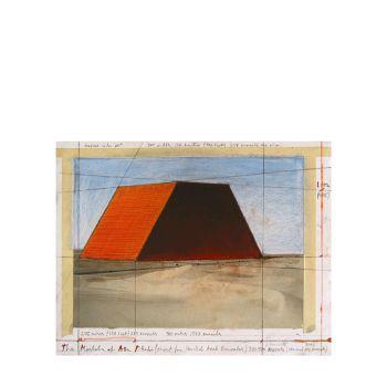 Christo - 'Mastaba of Abu Dhabi II', handsigniert, Grano-Lithographie, Auflage 100