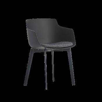 MDF italia Flow Slim Color Armlehnstuhl mit Sitzkissen