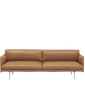 Outline 3-Sitzer Ledersofa