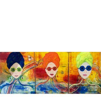 Triptychon Sommer Art 2018 3-teilig (80x60cm)
