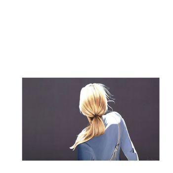 """Sabine Liebchen, """"o.T. (Mädchen mit blauer Jacke)"""", Lithographie, handsigniert & nummeriert, Auflage 40"""
