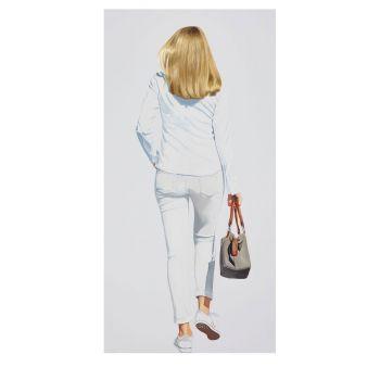 Sabine Liebchen, o. T. (hellgrau, blond) - limitierte Edition, Pigmentdruck, handsigniert, nummeriert, Realismus