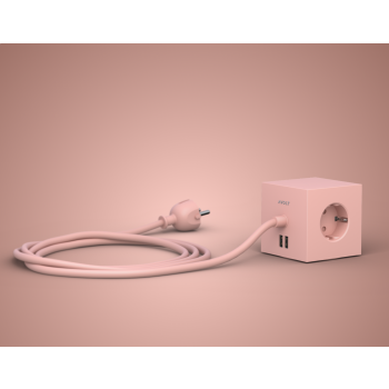 Square 1 USB+Magnet-rosa