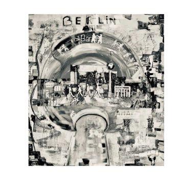 Berlin-Beatles (Grau) [Kunstdruck]