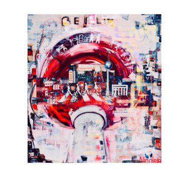 Berlin-Beatles (Rot) [Kunstdruck]
