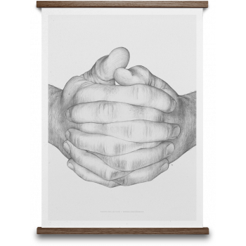 Folded hands original 50x70cm