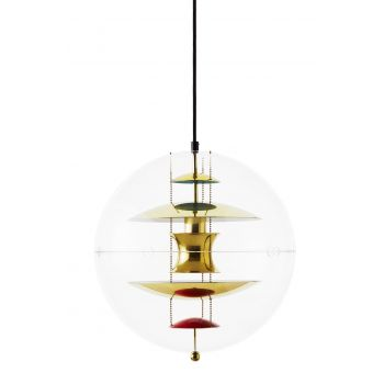 VP Globe Brass Pendant small