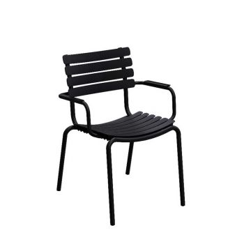 ReCLIPS Dining Chair mit Alu-Armlehne