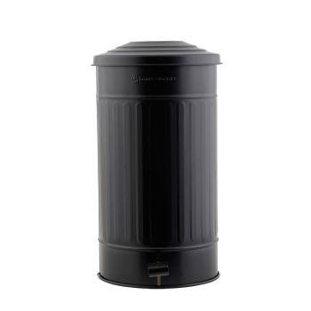 Mülleimer Mattschwarz