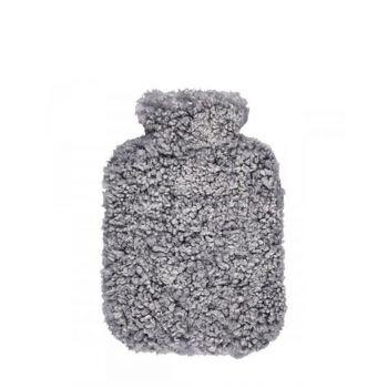 Lammfell Wärmflasche / grau
